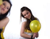 balonowych owocowych dziewczyn ładny kolor żółty obraz royalty free
