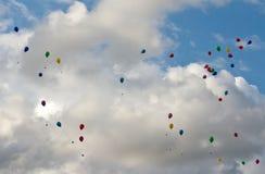 balonu niebo barwiony latający Zdjęcie Stock