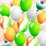 Balonu set Wektorowa ilustracja błyszczący kolorowi glansowani balony Realistyczni powietrza 3d balony odizolowywający na bielu Zdjęcie Stock