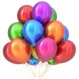 Balonu wszystkiego najlepszego z okazji urodzin przyjęcia dekoraci kolorowy stubarwny Obrazy Royalty Free