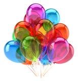Balonu wszystkiego najlepszego z okazji urodzin przyjęcia dekoraci stubarwny glansowany Zdjęcie Stock