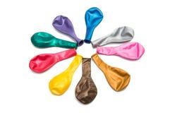 balony barwiący odizolowywającymi zdjęcie royalty free
