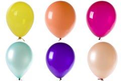 balony barwiący odizolowywali biel Obrazy Royalty Free