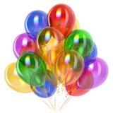 Balony bawją się urodzinowej dekoraci stubarwny półprzezroczystego Obraz Stock