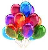 Balony bawją się wszystkiego najlepszego z okazji urodzin dekoraci stubarwny glansowanego Zdjęcia Stock