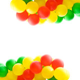 balony coloured wielo- fotografia stock