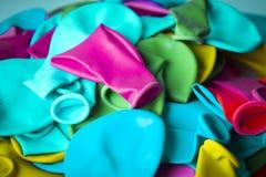 Balony deflated różni kolory Fotografia Royalty Free