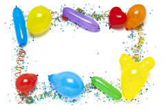 balony graniczą confetti Obraz Stock
