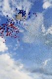 Balony i cekiny w niebie obraz royalty free