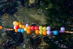 Balony jak cele na wodzie obraz royalty free