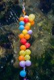 Balony jak cele na wodzie fotografia stock