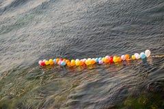 Balony jak cele na wodzie fotografia royalty free