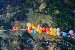 Balony jak cele na wodzie obraz stock