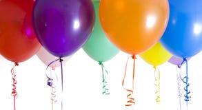 balony jasno się zamykają zapaloną przez odmiany Zdjęcie Royalty Free