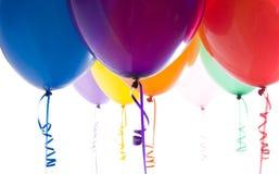 balony jasno się zamykają zapaloną przez odmiany Zdjęcia Royalty Free