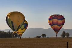 Balony Ląduje w polu Obrazy Royalty Free