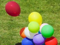 Balony na polu zdjęcie stock