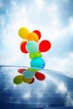 Balony Na samochodu dachu zdjęcie royalty free