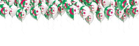 Balony obramiają z flaga Algeria ilustracja wektor