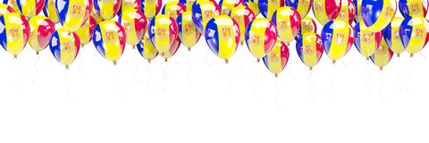 Balony obramiają z flaga Andorra Zdjęcia Royalty Free