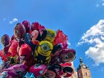 Balony, popularny kreskówki zakończenie w Krakowskim Fotografia Royalty Free