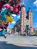 Balony, popularny kreskówki zakończenie w Krakowskim Zdjęcia Stock