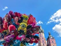 Balony, popularny kreskówki zakończenie w Krakowskim Zdjęcie Royalty Free