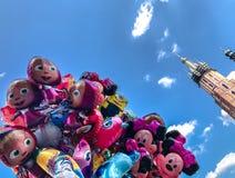 Balony, popularny kreskówki zakończenie w Krakowskim Obrazy Royalty Free