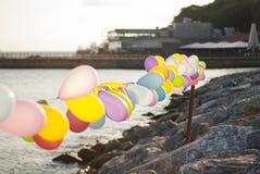 Balony przy nadmorski obrazy royalty free