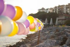Balony przy nadmorski zdjęcia royalty free
