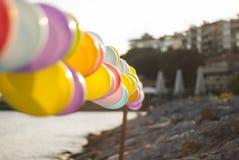 Balony przy nadmorski fotografia royalty free