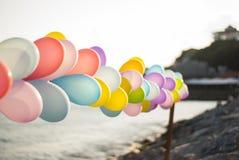 Balony przy nadmorski obraz stock