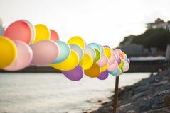 Balony przy nadmorski obrazy stock