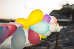 Balony przy nadmorski zdjęcie royalty free