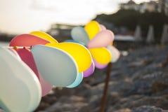 Balony przy nadmorski zdjęcie stock