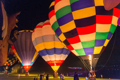 Balony przy nocą Zdjęcie Stock