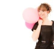 balony target333_0_ dziewczyny ja target335_0_ Zdjęcie Stock