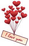 Balony w formie serca Royalty Ilustracja