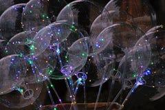 Balony z świecącym LEDs fotografia royalty free