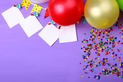 Balony z confetti zdjęcia royalty free