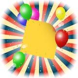 Balony z kijem dla twój teksta Zdjęcia Stock