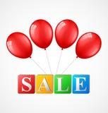 Balony z sprzedaży tłem Obrazy Stock