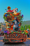 Baloo bear at disney parade. Famous disney parade with baloo bear and friends at disneyland, hong kong. baloo bear is an easygoing and fun-loving character of Stock Images