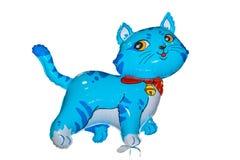 Baloon猫蓝色 库存图片