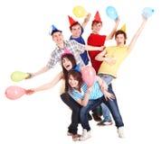 baloon άνθρωποι συμβαλλόμενων Στοκ φωτογραφίες με δικαίωμα ελεύθερης χρήσης