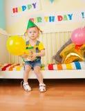 baloon κορίτσι λίγο παρόν Στοκ Εικόνα