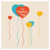 Baloon Λέξεις χαιρετισμού βαλεντίνων διανυσματική απεικόνιση