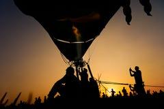 Baloon газа пламени человека силуэтов Стоковые Изображения RF