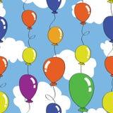 baloon bezszwowy deseniowy Obrazy Stock