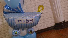Baloon birthday with word `It s a boy`. Baloon birthday with word It s a boy Royalty Free Stock Photo